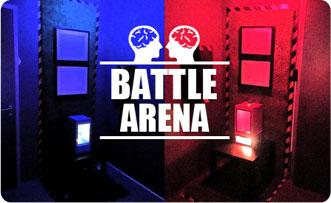 Battle Arena, tím proti tímu. Úniková hra. Escape room v Bratislave Izba číslo 13