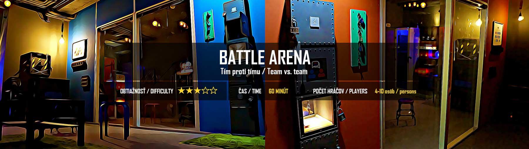 Battle Arena. Escape room v Bratislave. Izba číslo 13